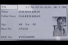 Hyderabad voter has Salman Khan's photo on I-card!