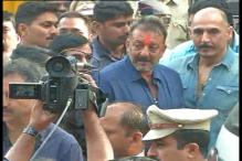 Actor Sanjay Dutt walks out of Yerwada jail after serving his sentence