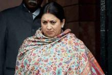 Smriti Irani plays irate headmistress to VCs, scolds them for dozing off at seminar