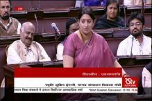 Smriti Irani reads out Rohith Vemula's Facebook post in Rajya Sabha