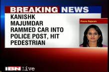 Kolkata: Youth Congress worker rams car into police post, arrested