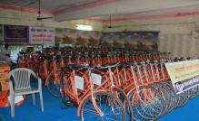 Congress objects to Gujarat government's move to give saffron cycles to girls