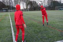Afghani women's football team gets jersey with integrated hijab