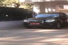 Watch: Hunt on for new car, Nitish Kumar test drives Audi Q5