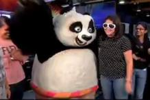 Po from 'Kung Fu Panda 3' visits CNN-IBN office