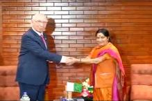 Sushma met Sartaj Aziz in Nepal, raises Pathankot terror issue