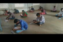 Students forced to sit on floor and take board exams in hi-tech Andhra Pradesh