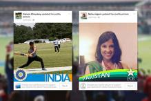 Indians and Pakistanis are supporting each other's cricket teams on Facebook as a gesture of peace