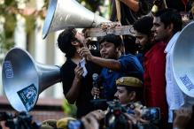 Kanhaiya led students march demanding release of Umar, Anirban