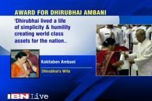Dhirubhai Ambani gets Padma Vibhushan posthumously, Kokilaben says 'deeply grateful'