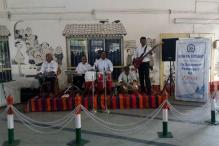 This railway station in Goa plays live music for travelers