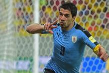 Suarez strikes as Uruguay hold Brazil to 2-2 draw in 2018 World Cup qualifiers