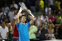 Novak Djokovic wins Miami opener while Roger Federer withdraws