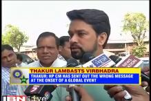 Thakur flays Himachal CM for comments over Indo-Pak match: CNN-IBN