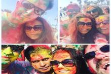 Snapshot: Preity Zinta celebrates holi with husband Gene Goodenough