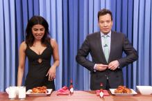Priyanka Chopra and Jimmy Fallon had a chicken wings eating contest on Fallon's show and guess who won