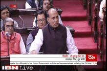 Rajnath hits out at Congress in Rajya Sabha, says terrorism has no religion, caste