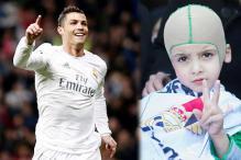 Palestinian firebomb survivor meets hero Cristiano Ronaldo
