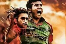 Distasteful image of Taskin holding Dhoni's head goes viral
