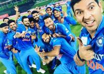 Snapshot: Asia champion Team India sports a 'pirate' look