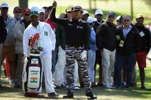 Lahiri jumps to tied 38th after third round at Augusta Masters