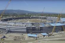 Watch: New drone video captures progress of Apple's upcoming 'spaceship' campus