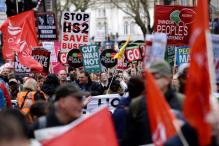 Tens of Thousands in London March Against PM, Austerity