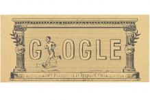 Google doodle celebrates 120th anniversary of first modern Olympic Games