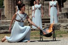 Rio Olympics Torch Lit in Ancient Olympia