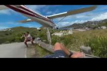 When Plane Almost Skimmed the Top of Photographer's Head in St Barts