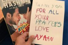 Farhan Akhtar to Arjun Kapoor: Emraan Hashmi's son sends 'Thank You' note to stars for 'The Kiss Of Life'