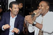 Watch: Luis Figo does the 'Champion' dance with DJ Bravo