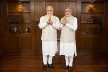 Narendra Modi Gets a Glimpse of His Wax Statue by Madame Tussauds