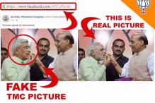 TMC Courts Controversy by Posting Morphed Picture of Rajnath