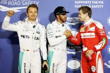 Lewis Hamilton edges Nico Rosberg to take Bahrain Grand Prix pole position