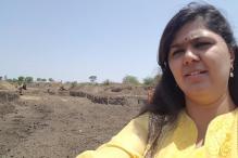 Snapshot: Pankaja Munde Clicks 'Drought-Selfie' in Latur