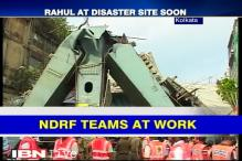 Rahul Gandhi visits bridge collapse site in Kolkata