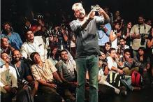 Sanjay Dutt clicks selfie with the photographers at Lakme Fashion Week