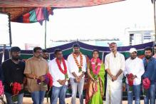 Photos: Vijay's 60th film begins with a pooja; Keerthy Suresh and Satish join in