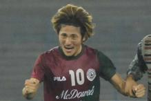 NorthEast United Rope in Mohun Bagan's Katsumi Yusa