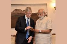 Tim Cook Meets PM; Launches Updated 'Narendra Modi Mobile App'