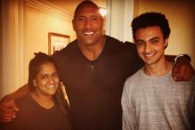 Arpita Khan Meets Dwayne Johnson, Thanks Priyanka Chopra for It