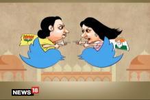 Breaking Toon: Twitter War Between Smriti and Priyanka