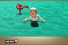 Breaking Toon: Left Sinks Chandy's 'boat' in Kerala Elections