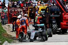 Lewis Hamilton, Nico Rosberg Crash Out of Spanish Grand Prix