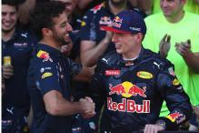 Red Bull Driver Verstappen Gives Ricciardo Less to Smile About