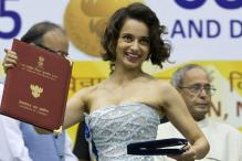 Kangana Ranaut turns up with family for National Awards