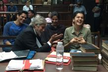 Snapshot: Big B Chills With 'Pink' Co-stars Taapsee, Kirti