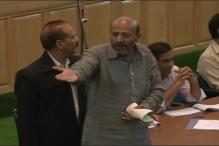 J&K MLA Engineer Rashid Forced to Leave Assembly