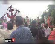 Left Supporters Celebrate Party's Victory in Kerala Polls